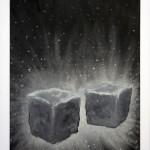 """""""Heilende Steine"""", 2010, Oil on paper, 40 x 60 cm"""