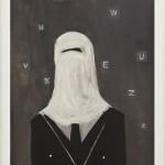 """My new secretary"", 2010, Oil on paper, 40 x 60 cm"