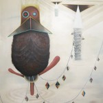 """""""Harter Hahn"""", 2010, Oil on canvas, 160 x 200 cm"""