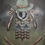 """""""Schlechte Intarsien"""", 2010, Oil on canvas, 160 x 200 cm"""