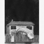 """The artist's garden"", 2011, monotype on paper, 20 x 30 cm"
